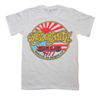 Aerosmith White Vintage Boston To Budokan Slim Fit T-Shirt