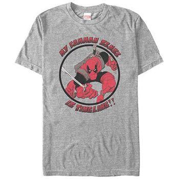 Deadpool Common Sense Gray Mens T-Shirt
