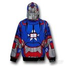 Iron Man 3 Iron Patriot Zip-Up Costume Hoodie
