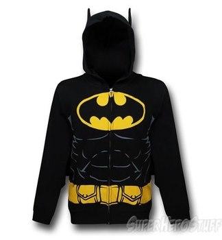 Batman Hooded Caped Belt Costume Zip-Up Hoodie