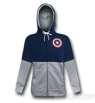 Captain America Shield Fleece Lined Men's Zipper Hoodie