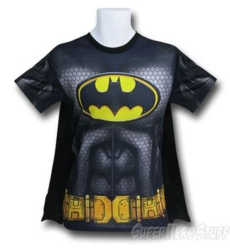 Batman Suit-Up Sublimated Caped Costume Men's T-Shirt