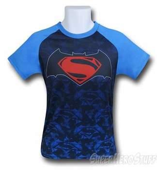 Batman Vs Superman Poly Mesh Symbol Kids T-Shirt