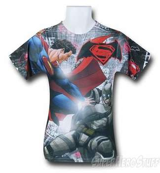 Batman Vs Superman Showdown Sublimated T-Shirt
