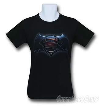 Batman Vs Superman Main Logo Black T-Shirt