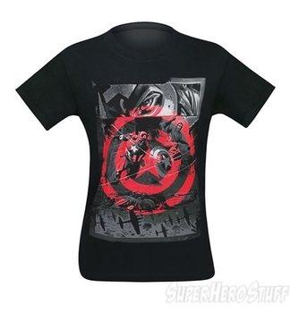 Captain America Comic Splash Page Men's T-Shirt