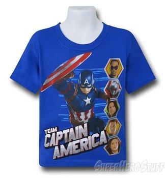 Captain America Civil War Team Cap Kids T-Shirt