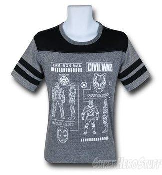 Civil War Iron Man Schematic Athletic Men's T-Shirt
