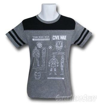 Captain America Civil War Team Scheme Kids T-Shirt