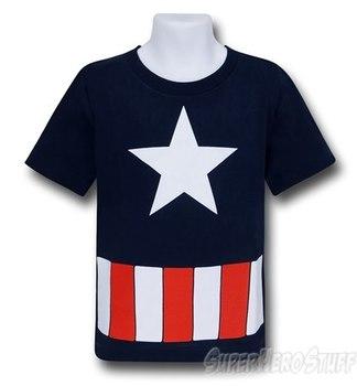 Captain America Kids Logo Costume T-Shirt