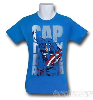 Captain America Image in Letters Kids T-Shirt