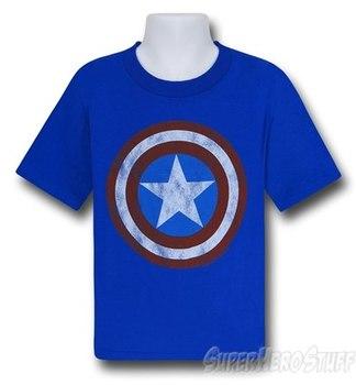 Captain America Shield Symbol Kids T-Shirt