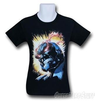 Darkseid Fiery Eyes Black T-Shirt