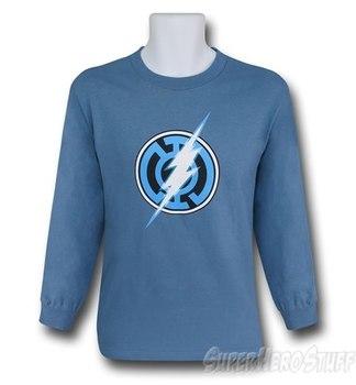 Blue Lantern Flash Symbol Long Sleeve T-Shirt