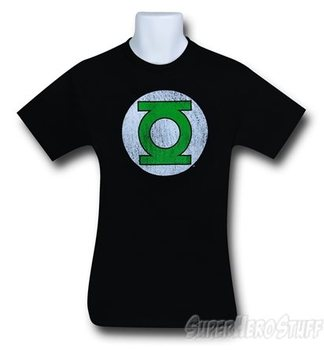Green Lantern Corps Distressed Black Men's T-Shirt