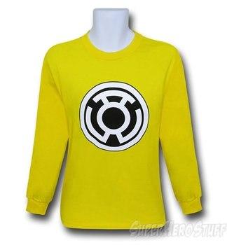 Green Lantern Sinestro Corps Yellow Long Sleeve T-Shirt