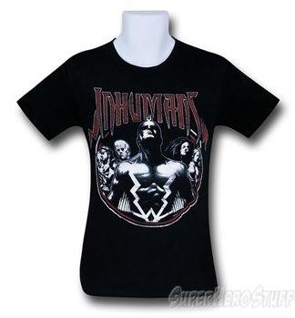 Inhumans 30 Single Black T-Shirt