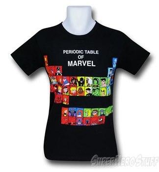 Marvel Periodic Table 30 Single T-Shirt
