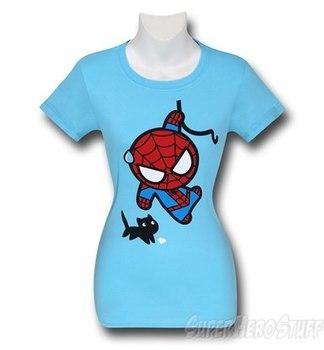 Spiderman Black Cat Kawaii Women's T-Shirt