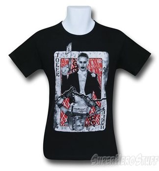 Suicide Squad Joker & Harley Quinn Card Men's T-Shirt