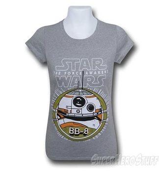 Star Wars Force Awakens BB8 Grey Girls Youth T-Shirt