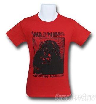 Star Wars Darth Vader Warning Men's T-Shirt