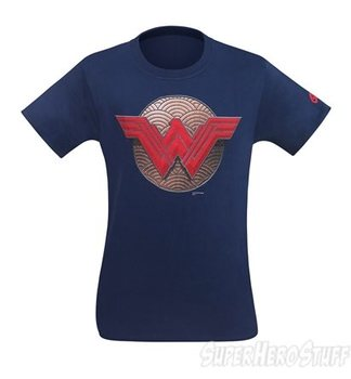 Wonder Woman Battle Shield Symbol Men's T-Shirt