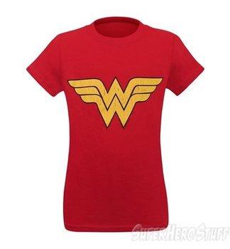 Wonder Woman Distressed Symbol Girls T-Shirt