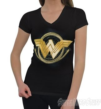 Wonder Woman Movie Golden Lasso Women's V-Neck T-Shirt