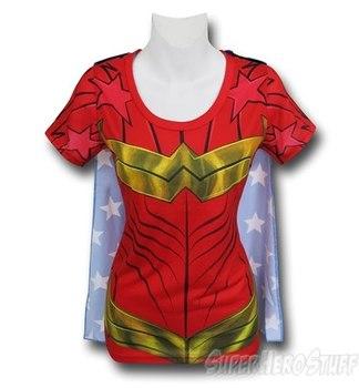 Wonder Woman Sublimated Caped Women's T-Shirt