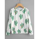 All Over Cactaceae Print Sweatshirt