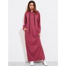 Heather Knit Hidden Pocket Side Hoodie Dress