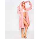 Rabbit Ear Hoodie Self Belted Bathrobe