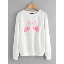 Flamingo Print Sweatshirt