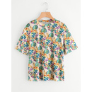 Tropical Print Vevlet T-shirt