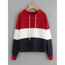 Cut And Sew Sweatshirt With Hooded