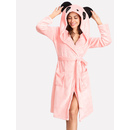 Panda Hoodie Self Belted Sleep Robe