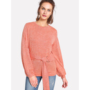 O-Ring Belted Marled T-shirt