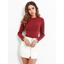 Rib Fitted Crop Tee