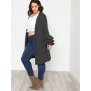 Layered Sleeve Button Up Jersey Cardigan