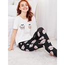 Allover Dog Print Tee And Pants PJ Set