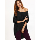 One Shoulder Dip Hem T-shirt