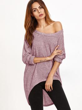 One Shoulder Dip Hem T-shirt