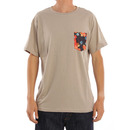 Reef Floral Pockets T Shirt in Warm Grey