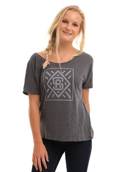 Surf Ride Diamond T Shirt in Asphalt