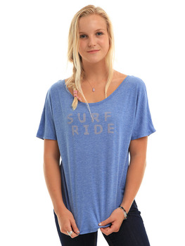 Surf Ride Paint T Shirt in Blue