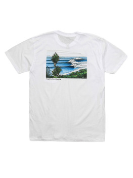 Surf Ride Swamis Location T-Shirt in White