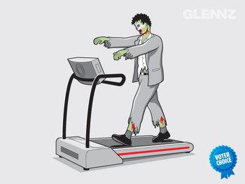 Eternal Exercise Zombie Tshirt