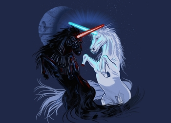Star Wars Retold with Unicorns
