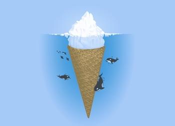 Hidden Part of Icebergs Tee
